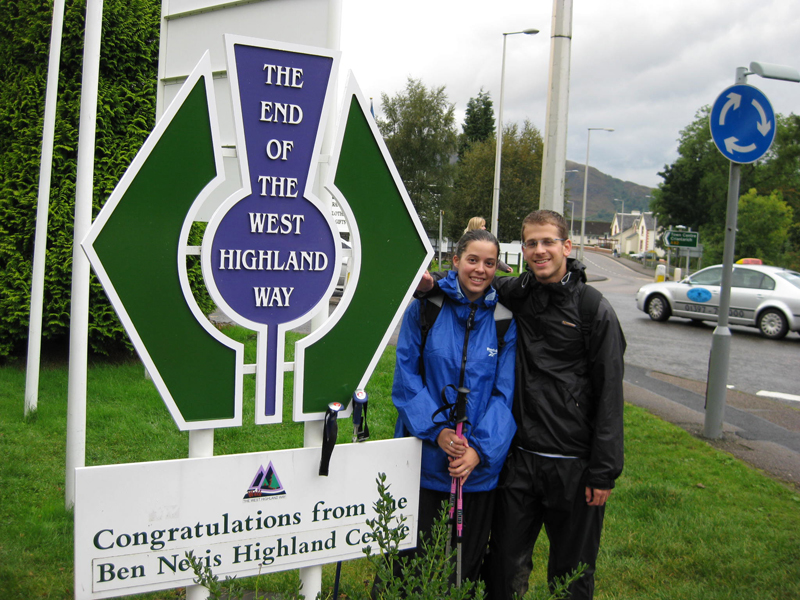 The end of west highland way monument